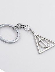 Movie Jewelry Keychain Deathly Hallows Keychain Rotated Triangle Key Chain For Women&Men
