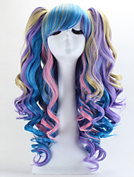 Lolita Wigs Gothic Lolita / Sweet Lolita Color Gradient Long Pink / Blue Lolita Wig 70 CM Cosplay Wigs Patchwork Wig For Women