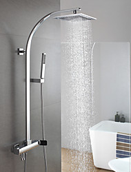 Bathroom Wall Mounted Brass Rainfall Shower Faucet Shower Column