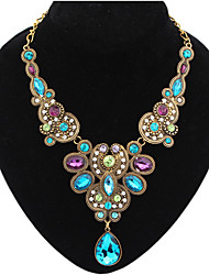 MPL Fashion all-match colorful jewel Necklace drops temperament
