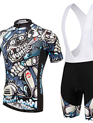 XINTOWN Cycling Jersey with Bib Shorts Unisex Short Sleeves Bike Bib Shorts Sleeves Jersey Clothing Suits Quick Dry Ultraviolet Resistant