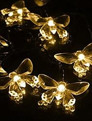 rei ro cristal 40led luzes da corda bateria borboleta para exterior, jardins, casas, casamento, festa de natal, à prova de água