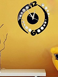 Fashion Rotation Sticker DIY Mirror Wall Clock Wall Sticker Home Decoration Enfeites Para A Casa Smile