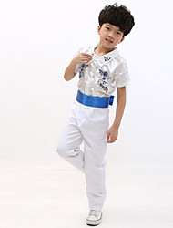 Performance Outfits Children's Performance Polyester Embroidery 2 Pieces White