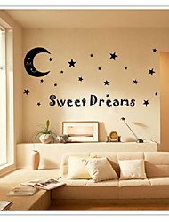 Sweet Dreams To Moon Stars Quote Art Vinyl Wall Stickers Decal Kids Home Fate