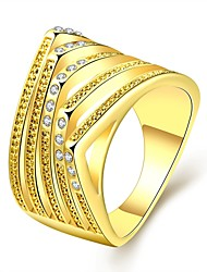 18K Gold Ring HOT SELL New Zircon Wedding Jewelry Rings For Women Aneis R746