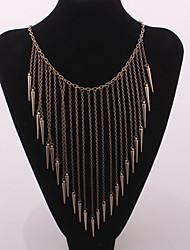 Feminino Gargantilhas Colares Vintage Colares Declaração Formato Circular Liga Moda Jóias da indicação Europeu Prata Bronze Dourado Jóias