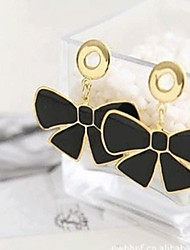 Earring Drop Earrings Jewelry Women Alloy / Platinum Plated / Gold Plated 1set Black / White