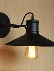 Retro Modern Creative Industrial Wind Black Paint Shop Warehouse Bar Cafe Hotel Iron Wall Lamp