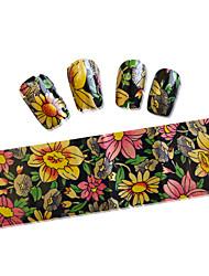 5pcs 100cmx4cm Flower Glitter  Nail Foil Sticker Polish  DIY Beauty  Nail Decorations DIY Nail Art Sticker STZXK01-49