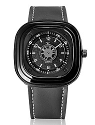V6® Men's Fashion Square Analog Display Leather Band Quartz Watch Cool Watch Unique Watch