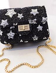 Women PU Sling Bag Shoulder Bag-Gold / Silver / Black