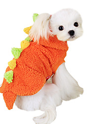 Dog Costume / Hoodie / Outfits Red / Green Dog Clothes Spring/Fall Cartoon / Animal Fashion / Cosplay / Halloween
