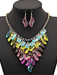 MPL Colorful gem Multi Chain Necklace Set