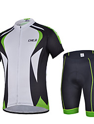 CHEJI Men Summer Shorts Sleeve Cycling Jersey Shorts Set Breathable Padded