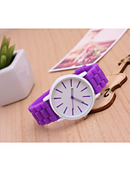 Unisex Fashion Watch Korean Fashion Candy Colored Jelly Quartz Watch Casual Student Strap Watch