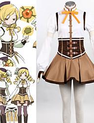 Inspiriert von Mahou Shoujo Madoka Magica Mami Tomoe Anime Cosplay Kostüme Cosplay Kostüme Patchwork Weiß / BraunTop / Rock /