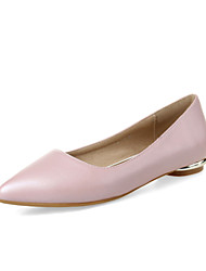 Women's Shoes  Flat Heel Pointed Toe Flats Office & Career / Dress / Casual Black / Green / Pink / Red