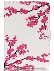 Plum blossom Folio Leather Stand Cover Case With Stand for iPad Mini 4