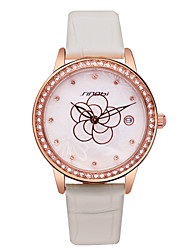 Women's Watch Luxury Quartz Watch with Diamond Personality The Second Hand Water Waterproof Leather Ladies Wristwatch Cool Watches Unique Watches
