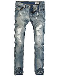 Pantalón De los hombres Casual / Tallas Grandes Un Color - Algodón - Sin Mangas