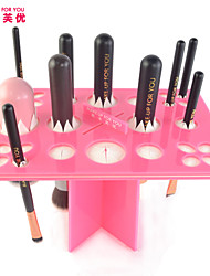 make-up voor je make-up kwast droogrek (roze)