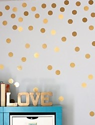 54 Gold Polka Dots Wall Sticker Baby Nursery Stickers Kids Golden Polka Dots Children Wall Decals Home Decor DIY Vinyl Wall Art 4cm