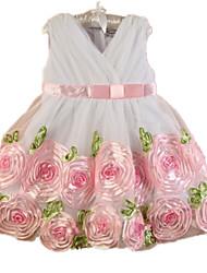 Robe Fille de Eté / Printemps / Automne Polyester Rose