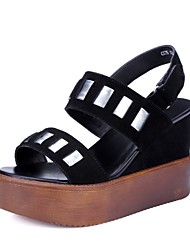 Women's Shoes Suede Wedge Heel Peep Toe / Platform / Slingback / Gladiator / Creepers / Comfort / Novelty / Round Toe /