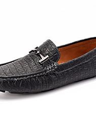 Zapatos de Hombre Mocasines Boda / Oficina y Trabajo / Vestido / Casual / Deporte / Fiesta y Noche Sintético Negro / Blanco