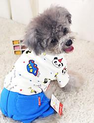 Cães Casacos Azul / Rosa Roupas para Cães Inverno Da Moda