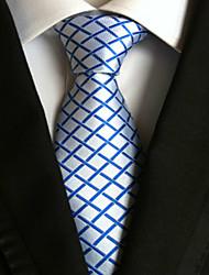 Cravatta - A rete DI Poliestere - Blu / Bianco