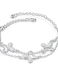 Lureme® Elegant Style Silver Plated Jewelry Personalized Butterfly Bracelets for Women Christmas Gifts