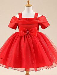 Vestido Chica de - Verano - Rayón - Rosa / Rojo / Blanco