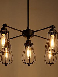 Luzes Pingente ,  Vintage Rústico Pintura Característica for LED Metal Sala de Estar Quarto Sala de Jantar Entrada Corredor