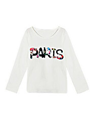 Girl's White Tee Cotton Spring