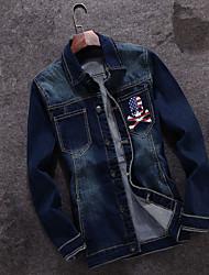 2016 spring cotton denim jacket male British leisure Metrosexual slim Japanese retro coat