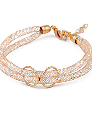 Korean Jewelry Gold Openwork Crystal Bracelet