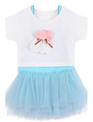 Girl Cotton Dress,Summer Short Sleeve