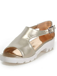Women's Shoes  Platform Peep Toe / Platform Sandals Outdoor / Dress / Casual Pink / Silver / Gold