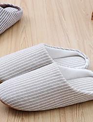 Zapatos de mujer-Tacón Plano-Zapatillas-Pantuflas-Casual-Tejido-Marrón / Caqui