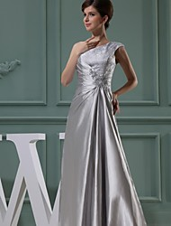 Ball Gown Mother of the Bride Dress - Elegant Floor-length Sleeveless Stretch Satin with Bow(s)