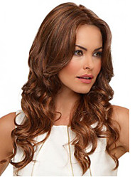 Brown Color Long Curly Syntheic Wig European Women Lady Favourite Style