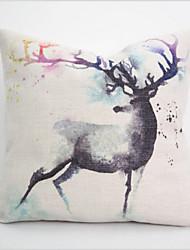 Retro Fashion Art Pillow Case Home Decorative Cotton Linen Blended Crown Throw Comfortable Back Wedding Cushion Flower