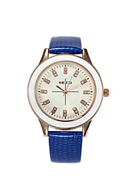 Women's  Fashion  Simplicity  Creative Quartz Rhinestone Leather Lady Watch