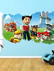 New Paw Patrol Dogs Wall Stickers 3D Cartoon Puppy Patrol Dog Children'S Living Room Wallpaper Christmas Decor