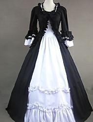 venta superior gothic lolita vestido blanco y negro del partido del vestido de la belleza victoriana vintage