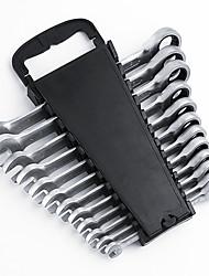 12 conjuntos de engranajes doble 8-19 trajes de rack de trinquete llave de plástico
