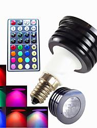 1pcs SchöneColors E14 4W High Power LED 300LM Dimmable/32Keys Remote-Controlled/Decorative RGB LED Spotlight AC 100-240V