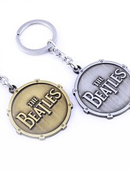 The Beatles Shield Round Toy Keychain Metal Key Chain Pendant Keyring Key Ring For Man's Boys
